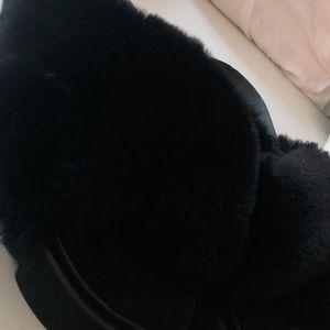 Black fur slides